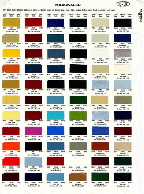 vw paint code la7t findcolours