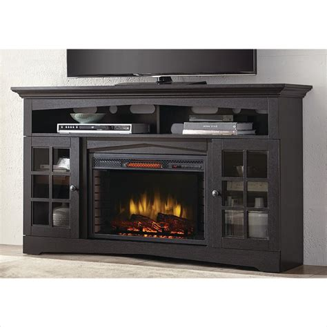 black electric fireplace tv stand home decorators collection avondale grove 59 in tv stand