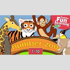 Learn To Count 1 To 10 With Number Zoo  Toddler Fun Learning Youtube