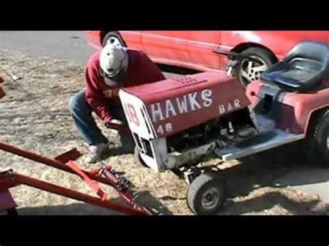 racing lawn mower tow truck youtube