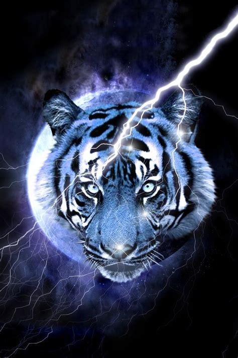 Blue Tiger Wallpaper Pet Big Cats Art