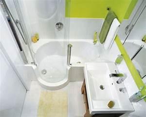 Badewanne Für Kleines Bad : kleines bad gestalten beispiel badewanne duschkabine bad ~ Michelbontemps.com Haus und Dekorationen