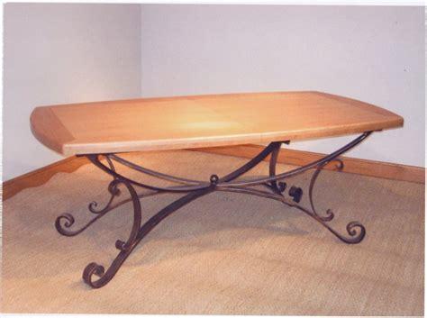 table bois et fer forge occasion table de salle a manger fer forge pertuis ebenisterie 84 les meubles abello