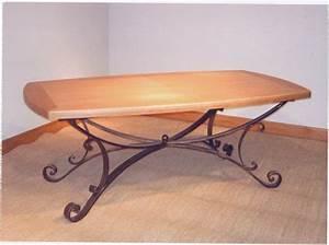 Table Fer Forgé Occasion : table de salle a manger fer forge pertuis ebenisterie 84 ~ Teatrodelosmanantiales.com Idées de Décoration