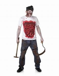 Déguisement Halloween Qui Fait Peur : d guisement zombie avec boyaux en latex homme halloween deguise toi achat de d guisements adultes ~ Dallasstarsshop.com Idées de Décoration