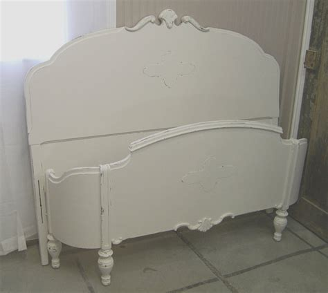 shabby chic bed frames shabby white full size bed frame chic by ashtonluluvintage