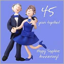 45 wedding anniversary 45th wedding anniversary card co uk kitchen home