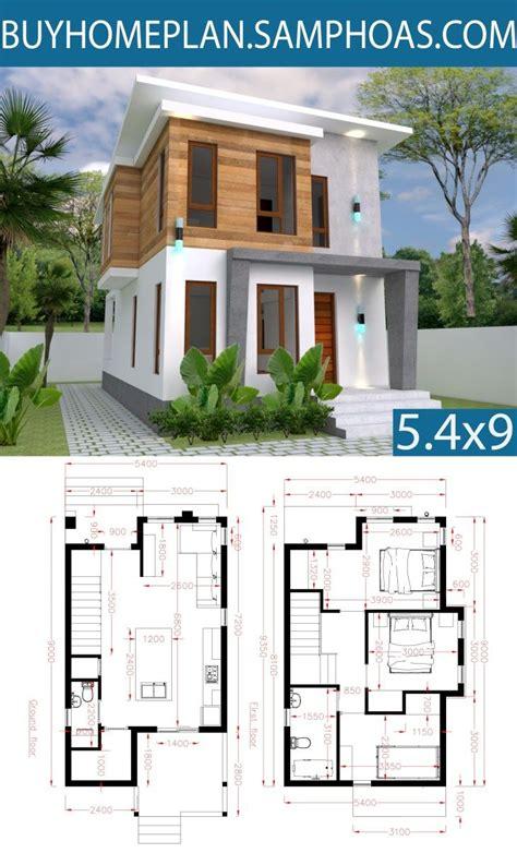 Small Home design Plan 5 4x10m with 3 Bedroom Samphoas