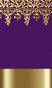Stylish Purple And Gold Wallpaper
