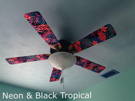 fan blade covers tropical tropical prints
