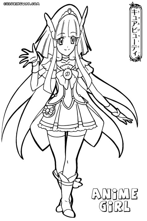 anime girl coloring pages coloring pages