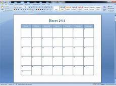 Crear calendario con asistente de Word RWWES