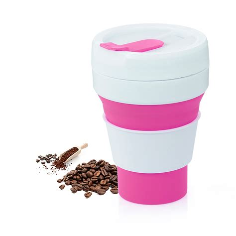 Enjoy a hot cup of coffee every day with the savourio paper. Foldable Silicone Cup Collapsible Coffee Cup with Lid Travel Portable Drinking Cup for Hiking ...