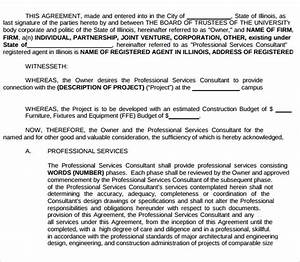 Free Contract Templates For Word Free 12 Sample Professional Services Agreement Templates