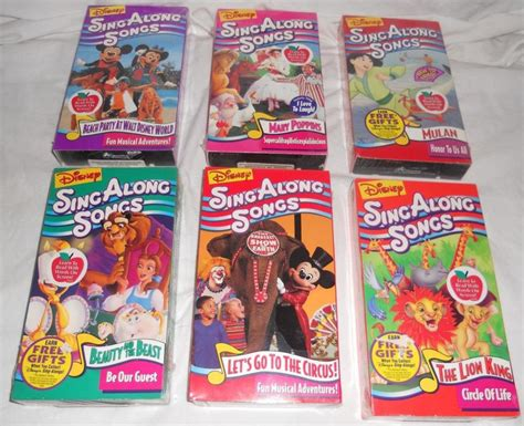 disney sing along songs vhs lot for sale classifieds