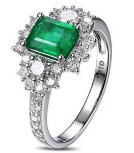 emerald wedding ring 2 carat beautiful emerald and engagement ring for in white gold jewelocean