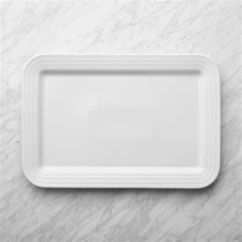 roulette white rectangular serving platter reviews crate  barrel
