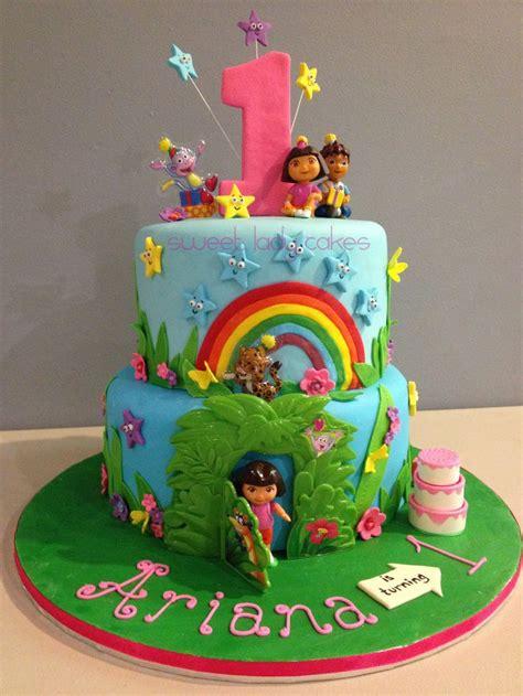 dora  explorer cake   st birthday party sweet