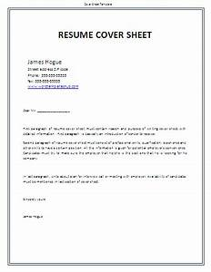 sheet templates wordtemplateshubcom With free cover sheet for resume