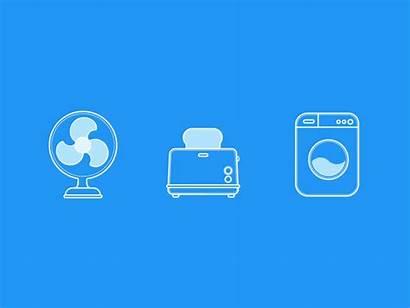 Appliance Icons Animated Icon Dribbble Chu