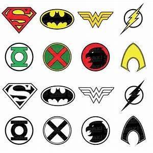 Justice League Superhero Symbol Clipart | SVG/PNG/EPS ...