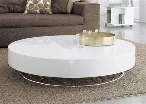 Modern Round White Coffee Table With Storage