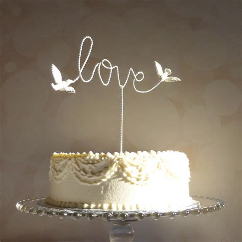 birds wedding cake topper wire cake topper cake topper wire wedding cake
