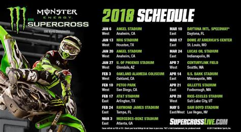 atv motocross racing 2018 monster energy supercross series schedule