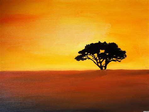 african sunset picture  toothpick  africa