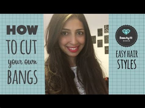 how to style your own hair how to cut bangs how to cut your own hair bangs 8989