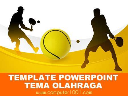 template powerpoint tema olahraga computer