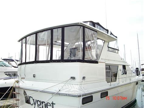 Boat Canvas And Windows by Midwest Auto Tops Upholstery Flying Bridge Rear Top
