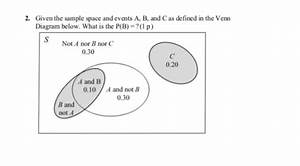 Solved  Given The Sample Space And Events A  B  And C As D