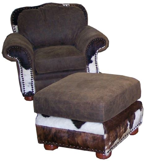 Cowhide Recliner by Cowhide Chairs Cowhide Chair And Ottoman Set Cowhide