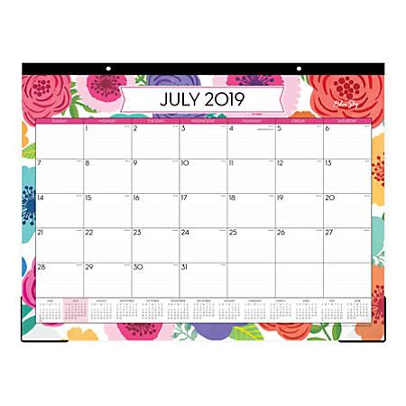 blue sky monthly desk pad mahalo july june