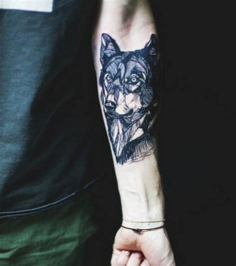tatouage avant bras homme loup idees de tatouages