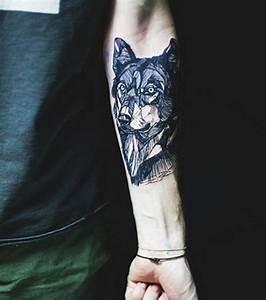 Loup Tatouage Geometrique : tatouage avant bras homme loup id es de tatouages et piercings ~ Melissatoandfro.com Idées de Décoration