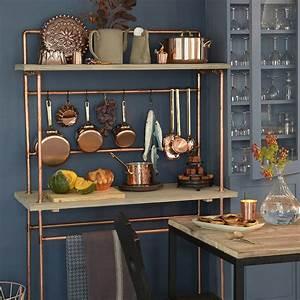 Desserte Pour Cuisine : une desserte de cuisine en cuivre et planche de bois marie claire ~ Teatrodelosmanantiales.com Idées de Décoration