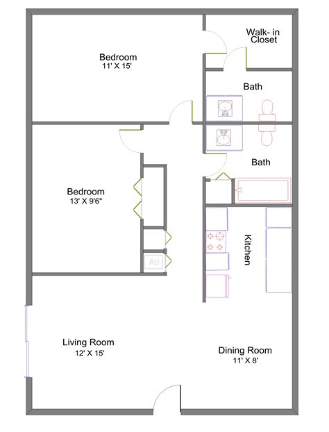 fresh two bedroom apartment layout hill apartments princeton management