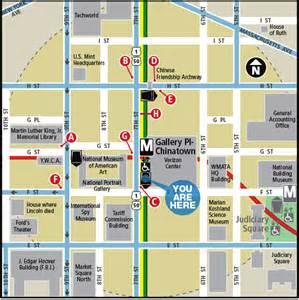 Chinatown Washington DC Metro Map
