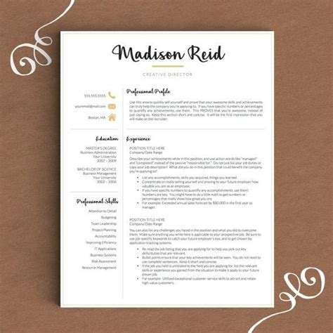 14914 modern business resume 1000 images about professional resume templates on