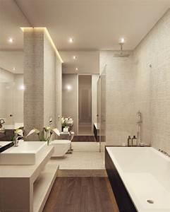 Faience Blanche Salle De Bain : beaucoup d 39 id es en photos pour une salle de bain beige ~ Dailycaller-alerts.com Idées de Décoration