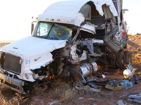 One Killed After Semitrailers Collide