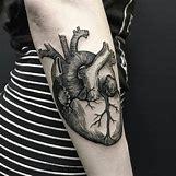 Anatomical Heart Tattoo Black And White | 1080 x 1080 jpeg 128kB
