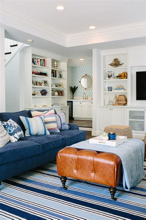blue leather sofa living room modern white living room interior decorating ideas with