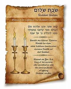 Blessing for Lighting the Shabbat Candles | Glorifiying ...