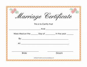 Best photos of printable fake marriage license printable for Printable fake marriage certificate template