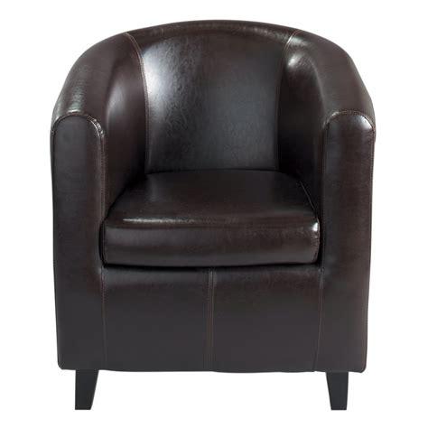 fauteuil club marron nantucket maisons du monde