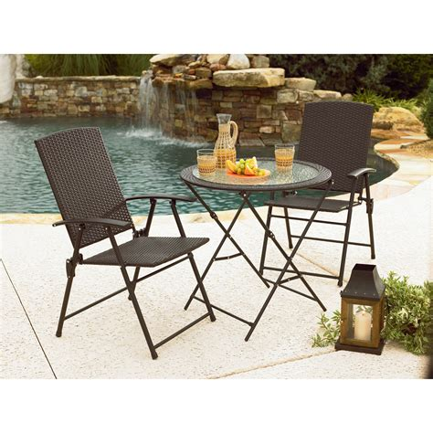 garden oasis wicker folding chair brown outdoor