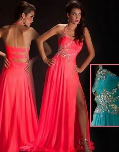 Image detail for Neon Pink Neon Turq prom dress by Mac